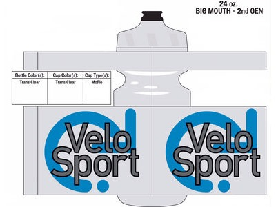 Specialized VeloSport Big Mouth Bottle 24oz Trans Clear